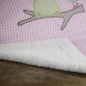 Preview: Lottas Lable Babydecke Eule rosa