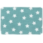 Preview: Lottas Lable Teppich Softie Sterne aquamarin 70 x 100cm