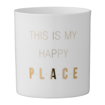 "Bloomingville Teelicht ""This is my happy place"""
