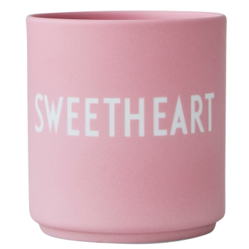 Design Letters Sweetheart Favourite Cup Rosa