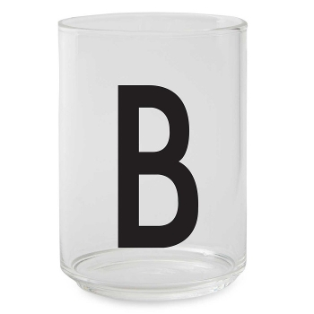 Design Letters Glas Buchstabe B