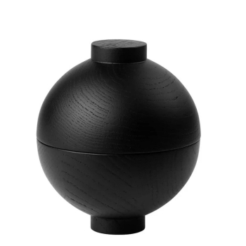 Kristina Dam Studio Aufbewahrung Sphere Wooden Black Medium