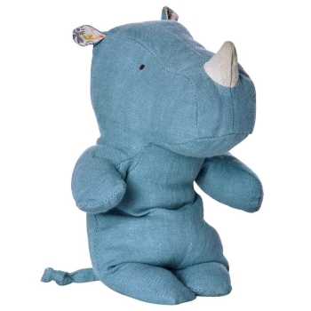 Maileg Rhino small Safari Friends blau