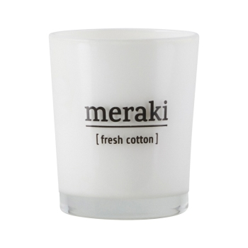 Meraki Duftkerze im Glas fresh cotton