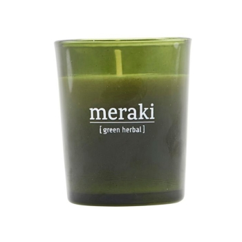 Meraki Duftkerze im Glas Green herbal